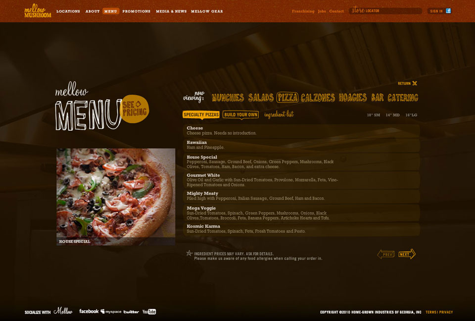 Website - Menu