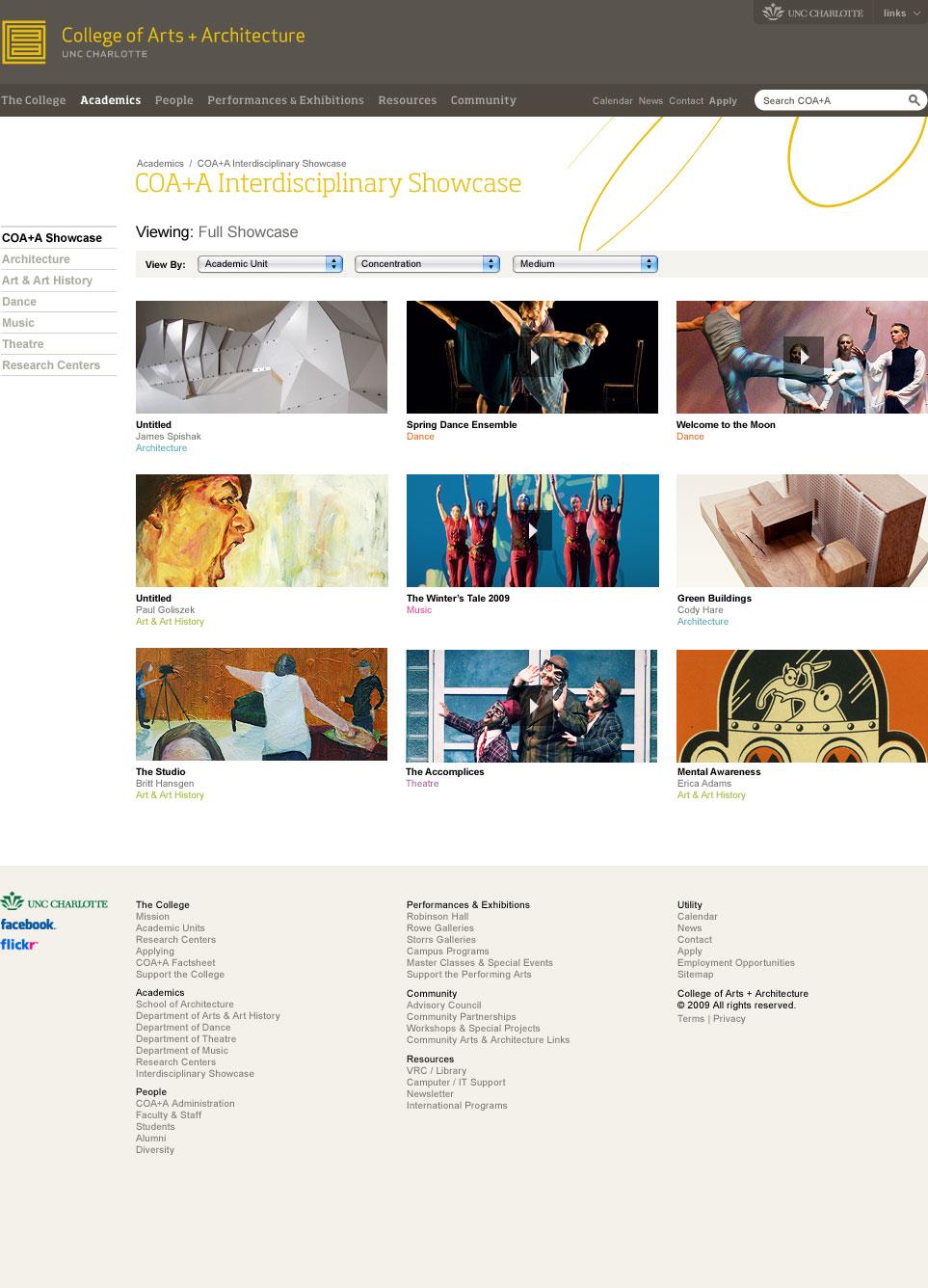 Website - Interdisciplinary Showcase