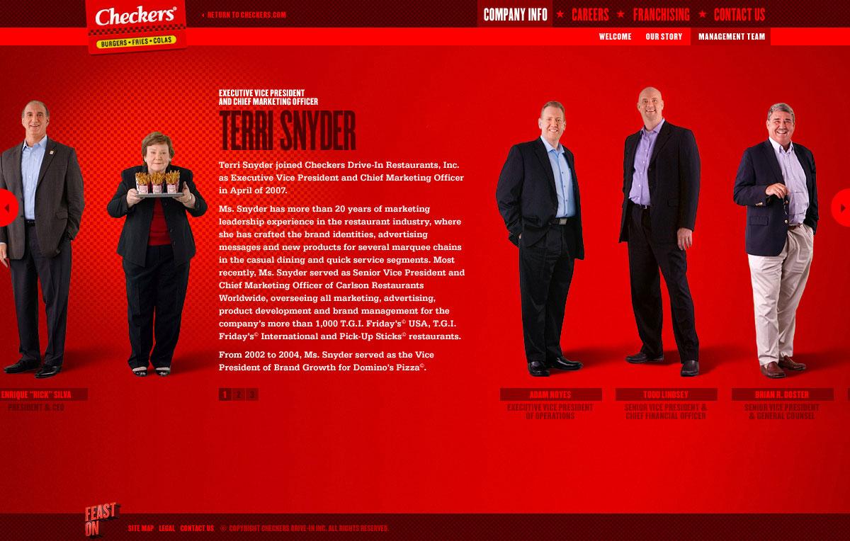 Corporate Website - Management Team