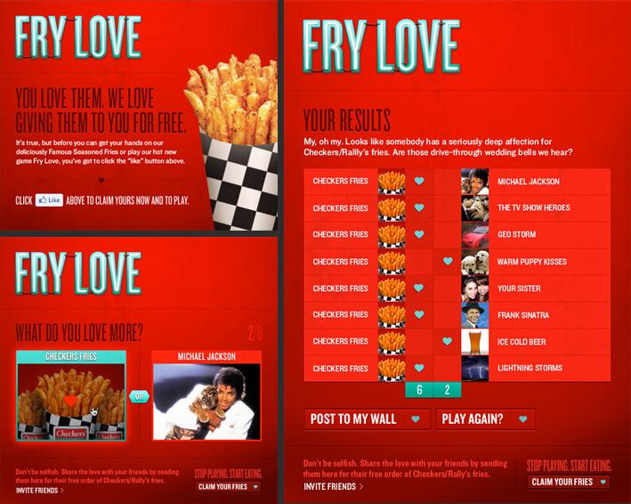 Social Media - Fry Love Facebook App