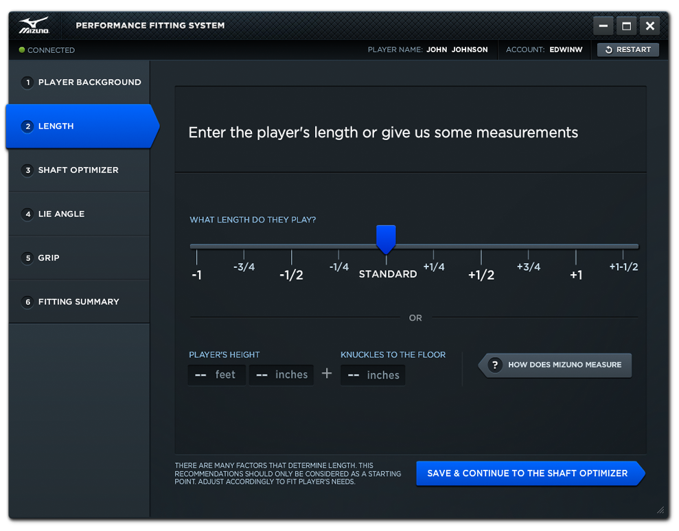 Performance Fitting System - Length