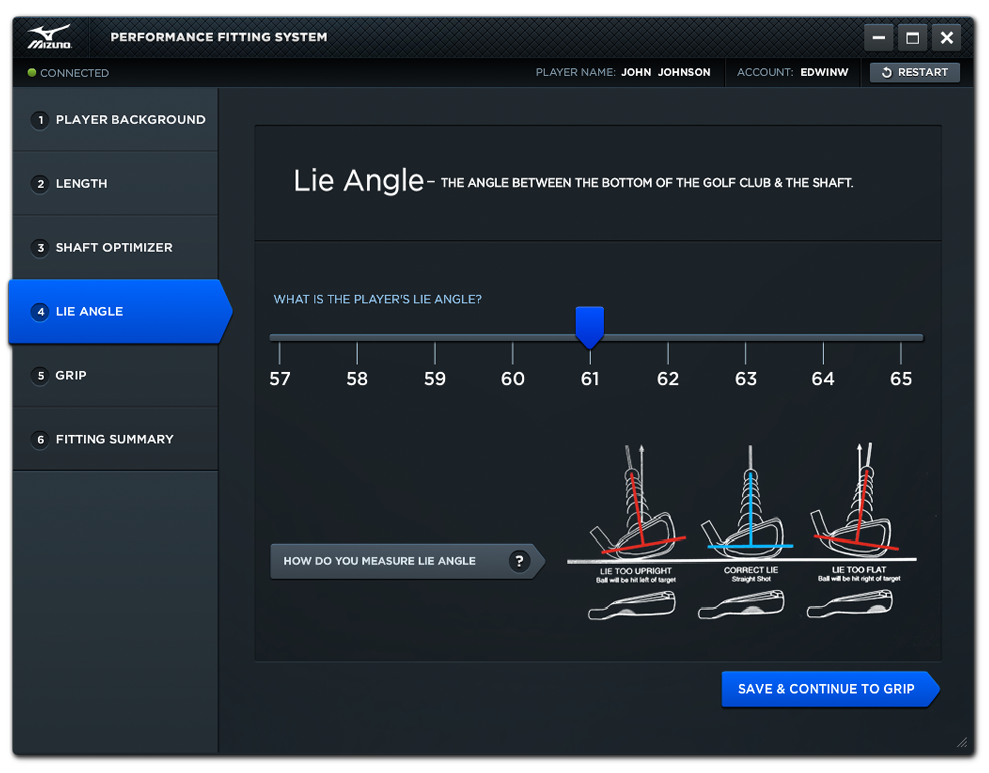 Performance Fitting System Lie Angle