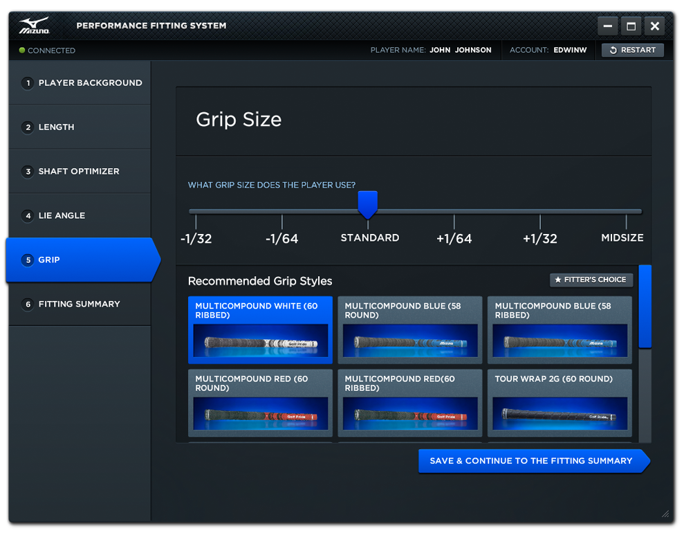 Performance Fitting System - Grip