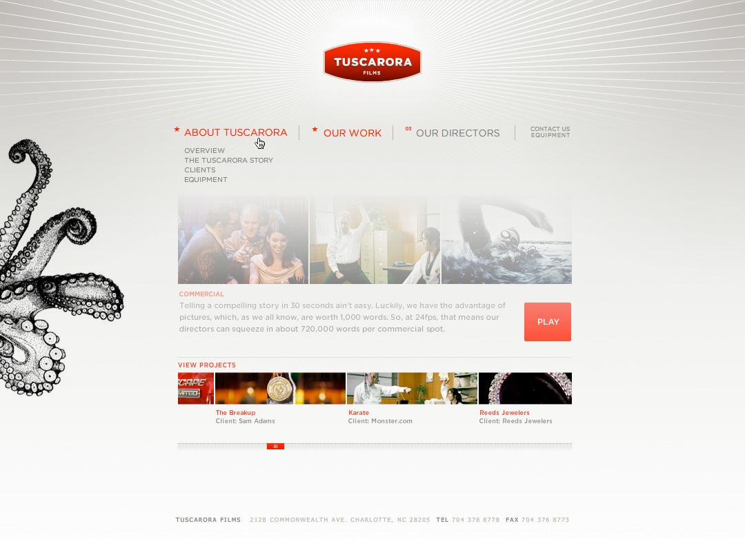 Website - Navigation Rollover