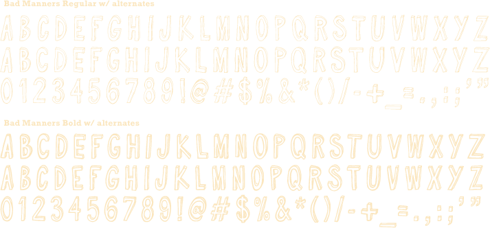 Typeface - Bad Manners