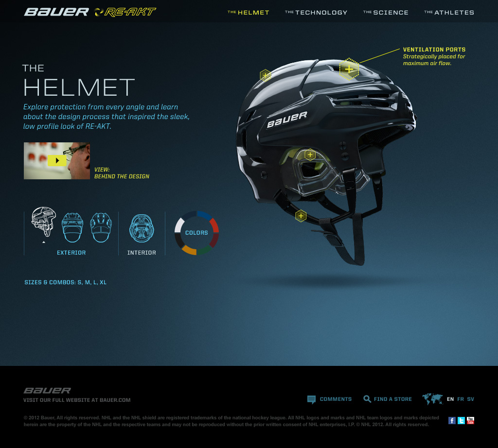 RE-AKT Microsite - The Helmet