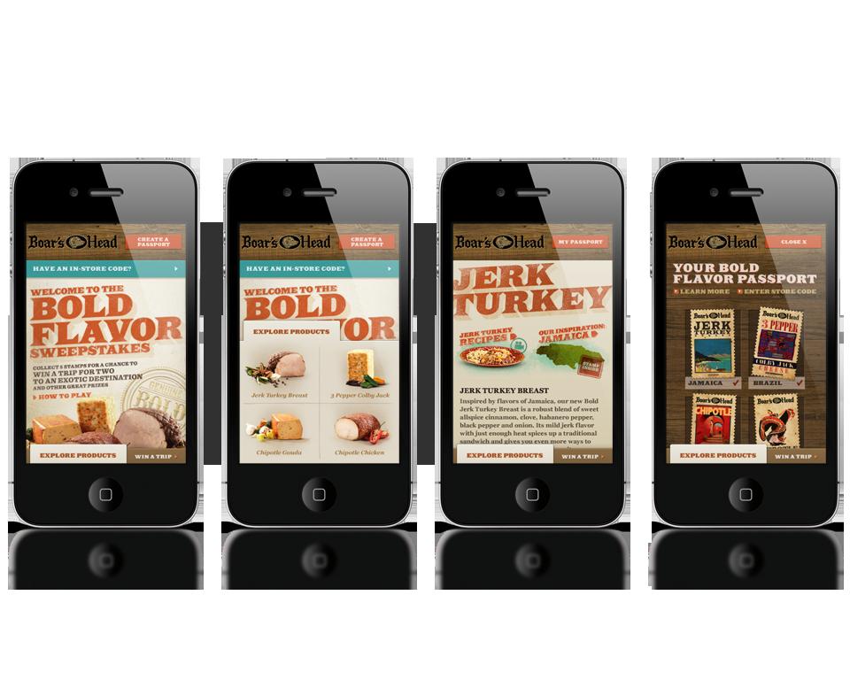 Bold Microsite - Mobile