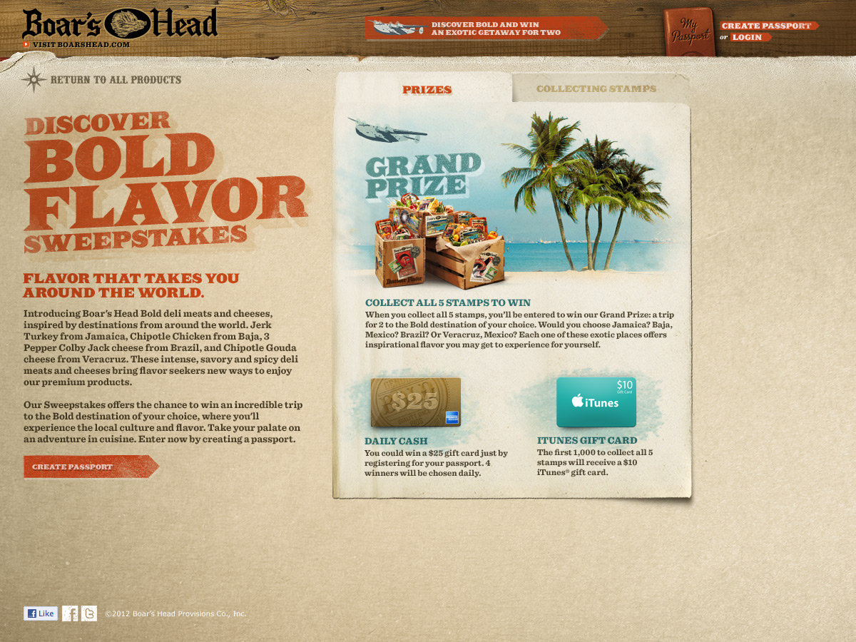 Bold Microsite - Sweepstakes