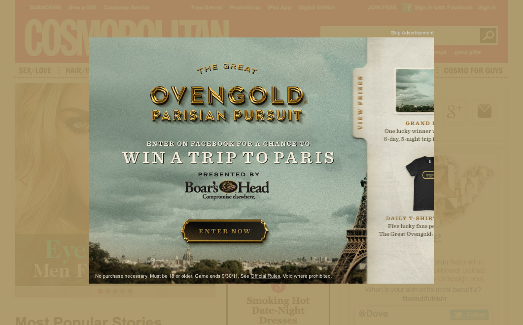 Ovengold Parisian Pursuit - Display Ad