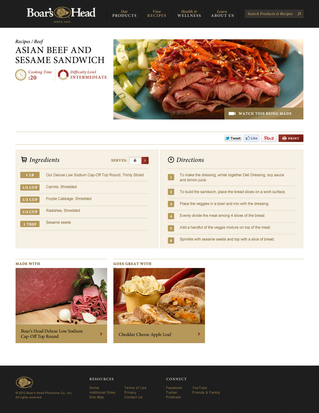 Website - Recipe Detail