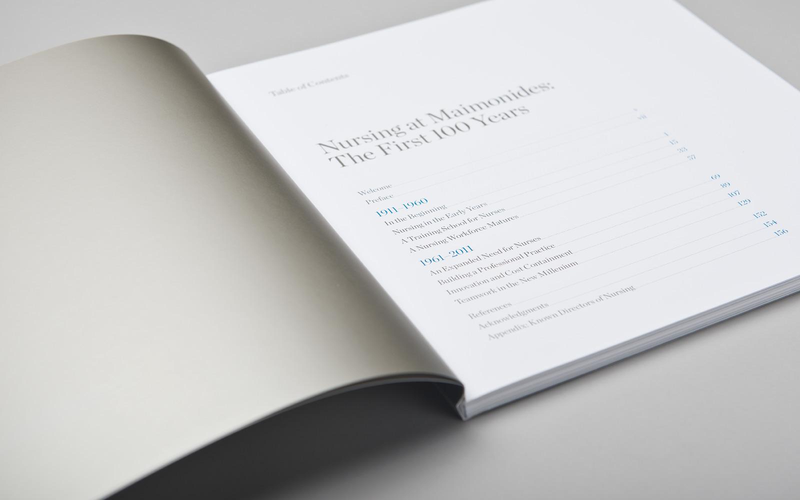 Nursing Centennial Book - Table of Contents
