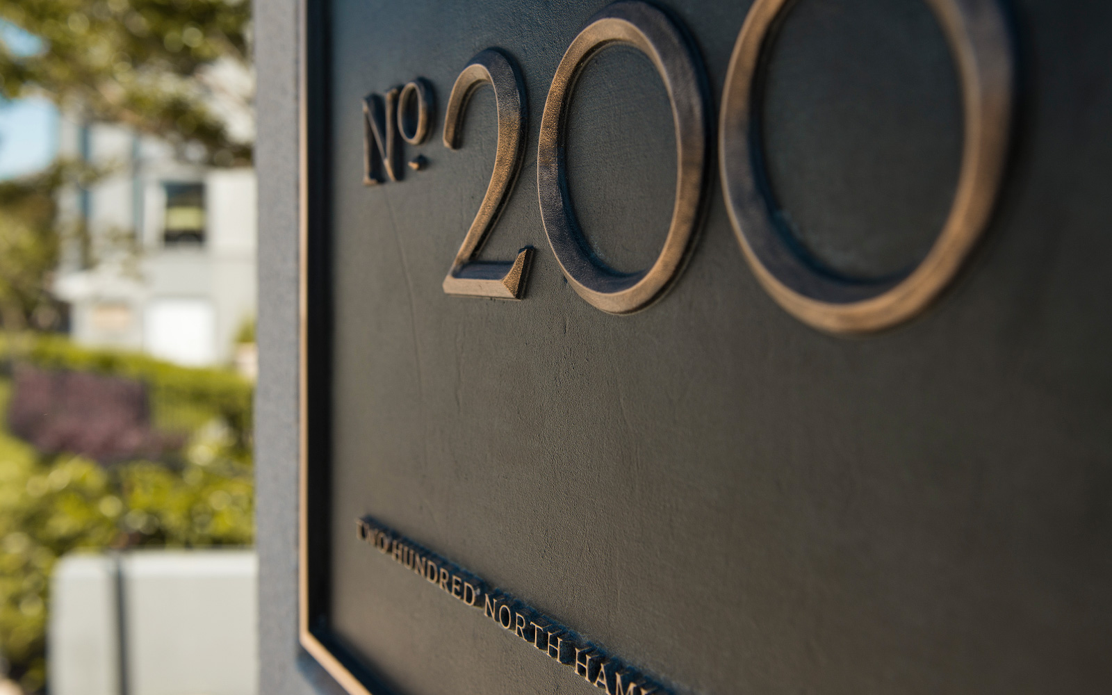 Bronze Showroom Address Plaque - Detail