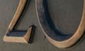 Stanley Furniture / Bronze Showroom Address Plaque - Detail